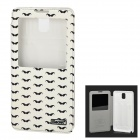iSecret  Mustache Pattern PU Flip-open Case w/ Display Window & Stand for Samsung Note3 / N9000