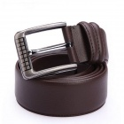 JAMRESVCK HY09 Split Cowhide Leather Waist Belt - Coffee