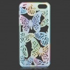 Hollow-Out Butterfly Style plastique dos étui de protection pour l'IPHONE 5 / 5 s - bleu + Orange
