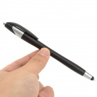 2-em-1 Capacitive Touch Screen Stylus Pen w / caneta esferográfica para iPhone / iPad / iPod - Preto + Prata