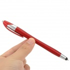 2-in-1 Capacitive Touch Screen Stylus Pen w/ Ballpoint Pen for IPHONE / IPAD / IPOD - Red + Silver