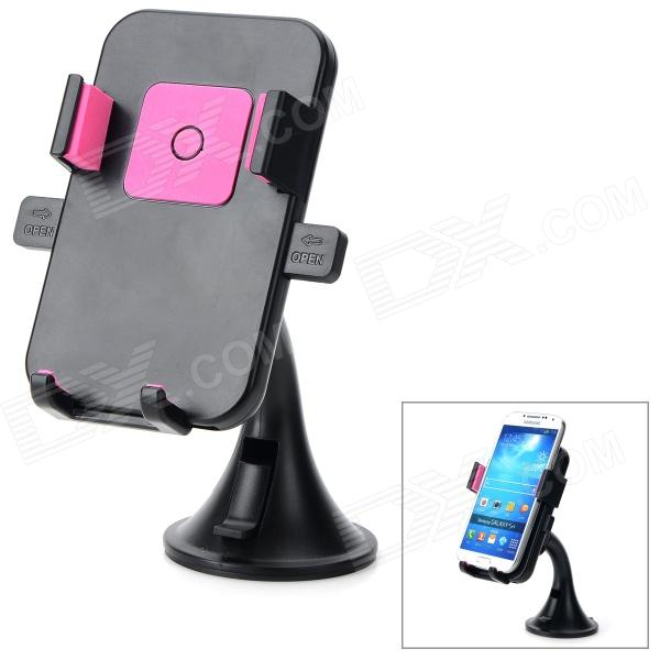HL-91A Universal 360 Degree Rotatable ABS Mobile Phone Suction Cup Mount Holder - Black + Pink universal 360 degree rotate car mount holder for mobile phone black