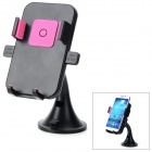 HL-91A Universal 360 Degree Rotatable ABS Mobile Phone Suction Cup Mount Holder - Black + Pink