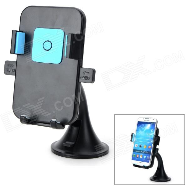 HL-91A Universal 360 Degree Rotatable ABS Mobile Phone Suction Cup Mount Holder - Black + Blue ultra thin pu leather case cover for huawei mediapad m3 btv w09 btv dl09 8 4 inch tablet cases stylus film