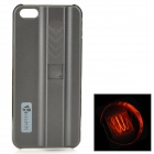 Creative Protective ABS Back Case w/ Cigarette Lighter for IPHONE 5 / 5S - Grey + Silver