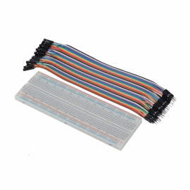 MB102 830 Point Breadboard + 40PCS 1P/1P Male to Female Dupont Cable Kit for Arduino DIY