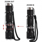 RichFire RF-314 LED 750lm 5-Mode Cold White Zooming Flashlight - Black + Silver (1 x 18650)