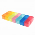 14-Section DIY Parts Configurable Storage Toolboxes (Color Assorted)
