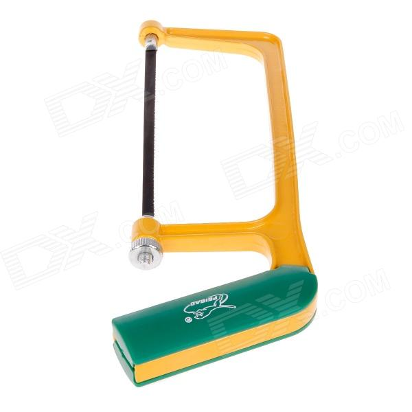 "Feibao FB2910 6"" Aluminum and Plastic Coated Saw Frame - Yellow + Green"