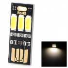 YIYI 0.6W 45lm USB Keyboard 3-LED Warm White Light Small Lamp - Black + Golden