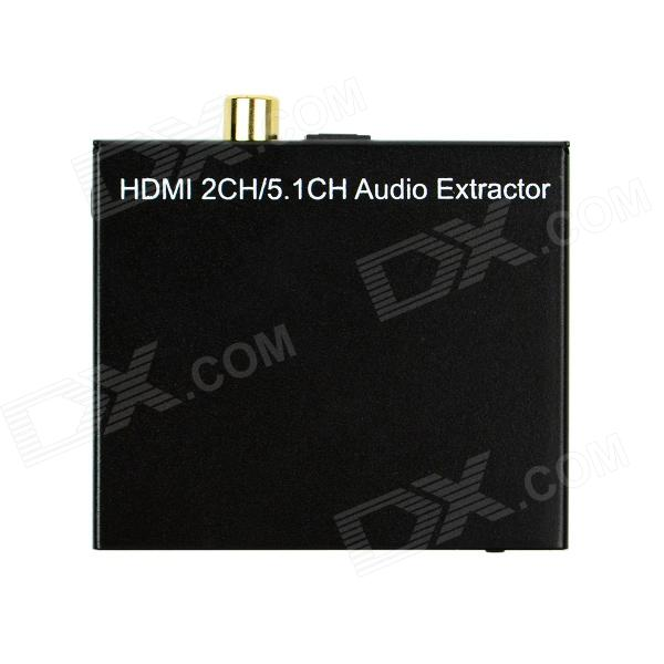 HDMI 2-CH / 5.1-CH Audio Digital Stereo Extractor Splitter w/ SPDIF Fiber / Coaxial 3.5mm Jack 80 channels hdmi to dvb t modulator hdmi extender over coaxial