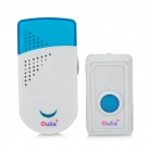 Water Resistant Wireless Remote Doorbell - Hvit + Blå ( EU Plug)