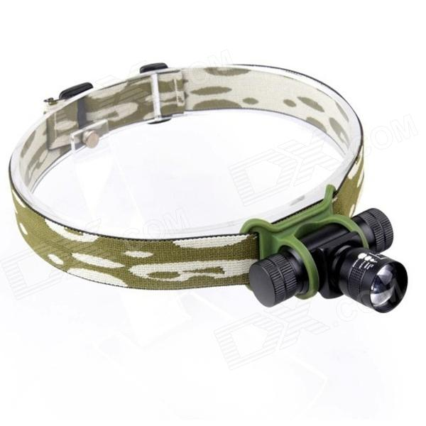 E-Smart LED 220lm 3-Mode Cold White Zooming Light Headlamp - Black (1 x 14500 / 1 x AA)