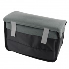 Nylon Sleeve Bag for Digital Single / Double Lens Reflex Camera - Black + Grey (25 x 11 x 16cm)