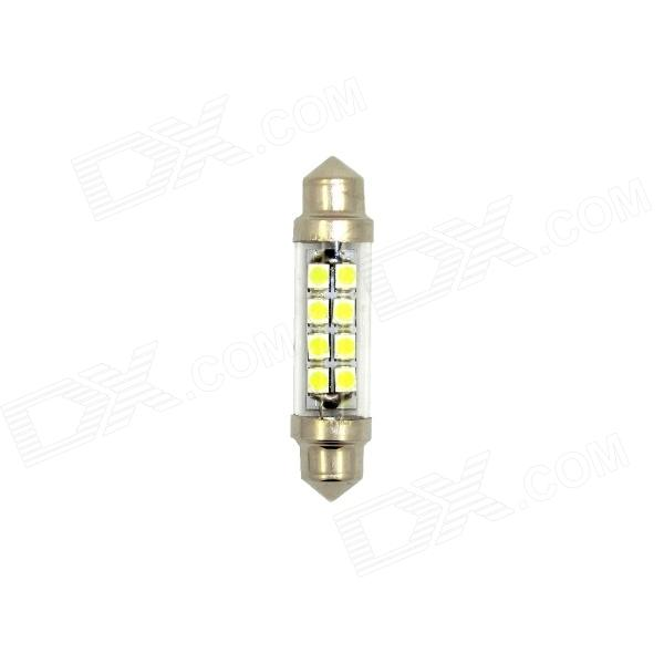 Eastor ER-044 Festoon 44mm 0.8W 60lm 8-1210 SMD LED blanco de coches Lámparas Para Leer - plata (12 V / 2 PCS)