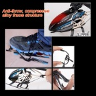 JJRC SJ998 2.4GHz 3.5-CH Double Handle R/C Helicopter w/ 3D Words - Black + Multicolored (6 x AA)