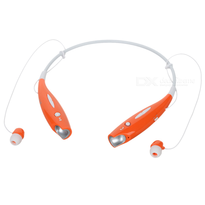 LG HBS-700 Bluetooth V2.1 Wireless Stereo Headset Headphone w/ Microphone - White + Orange lg hbs 700 bluetooth v2 1 wireless stereo headset headphone w microphone white orange