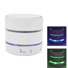 S09 Mini Bluetooth V3.0 Speaker w/ Mic / TF Slot / FM Radio - White