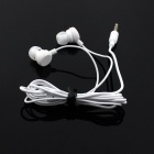 Stereo MP3 In-Ear Earphones - White (3.5mm Plug / 110cm-Cable)
