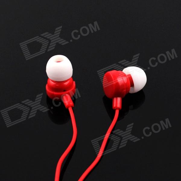 Stereo MP3 In-Ear Earphones - Red (3.5mm Plug / 110cm-Cable) pny stylish in ear earphones silver 3 5mm plug 110cm cable