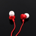 Stereo MP3 In-Ear Earphones - Red (3.5mm Plug / 110cm-Cable)