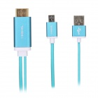 3253 MHL Micro USB to HDMI HDTV Adapter Cable for Samsung Galaxy S3 / Note 2 / 3 - Blue (197cm)