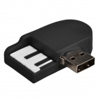 Cute Cartoon Piano Style USB 2.0 Flash Drive Disk - White + Black (8GB)