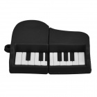 Cute Cartoon Piano Style USB 2.0 Flash Drive Disk - White + Black (16GB)