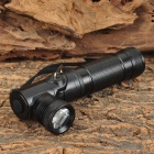 110lm 1-LED Cool White 3-Mode Flashlight - Black (3.7V / 1 x 18650)