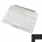 7-Color Backlight Wireless Bluetooth V3.0 78-Key Keyboard for IPAD AIR - Silver