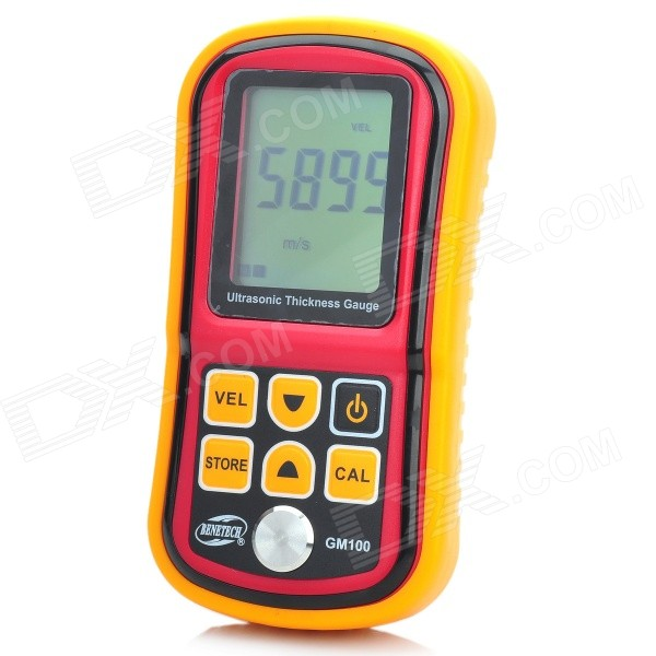 Biaozhi GM100 2.4 LCD Digital Ultrasonic Coating Thickness Gauge Painting Thickness Tester - Yellow dental caliper thickness gauge 0 10 0 1mm caliper with metal watch measuring thickness dental lab equipments dentist tools