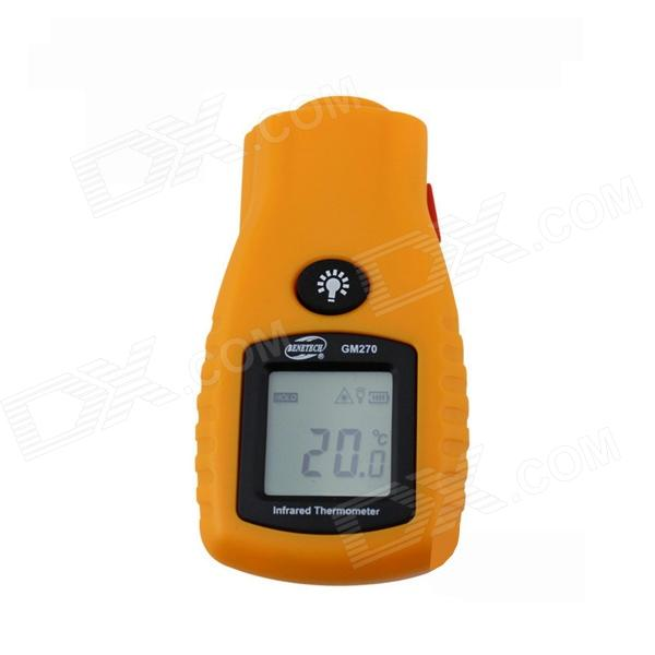 BENETECH GM270 1.4 LCD Infrared Temperature Tester Thermometer - Yellow (2 x AAA) benetech gm320 1 2 lcd infrared temperature tester thermometer orange black 2 x aaa