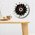 Luo Hasi TM11014 Dot Art Wall Clock - White + Black (1 x AA)
