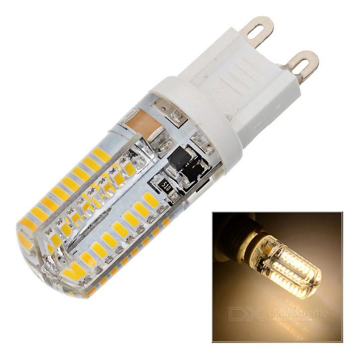 HZLED G9 3W 384lm 3000K 64 x SMD 3014 LED Warm White Light Lamp - White (220V)