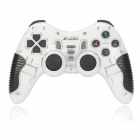 X-303 2.4GHz Wireless Double Shock Game Controller for PS1 / PS2 / USB Gamepad - White (3 x AAA)