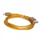 Micro USB Male to USB 2.0 Male Data Sync / Charging Cable Samsung / HTC / Sony - Yellow (100cm)