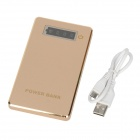 "1.2"" LCD ""6000mAh"" Portable Super Slim Lightweight Power Source Bank w/ Power Display - Golden"