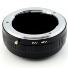 CY-NEX Contax Yashica C/Y linsen Sony E-Mount Adapter Ring for NEX NEX-5 NEX-7 - svart