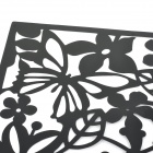 HQS-G108026 Flowers & Birds Pattern Decorative ABS Hanging Screens - Black (4 PCS)