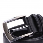 JAMRESVCK HY08 Men's Square Texture Split Cowhide Waist Belt-Black