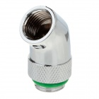 WT-046 45 Degree Rotatable Chromium Plated Brass Elbow - Silver + Green