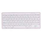 BKB801 Ultra-Slim Bluetooth V3.0 78-key Keyboard for Android / iOS - White + Deep Pink