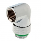 WT-047 90 Degree Rotatable Chromium Plated Brass Elbow - Silver + Green