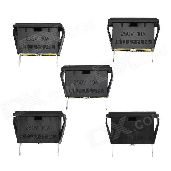 10A 2500W EU / US Plug Sockets - Black + Yellow + Multicolored (5 PCS / 250V) оперативная память kingston kvr24r17s4 16