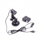 USB Multi-Angle Rotation Adjustment 120lm LED Pure White Light  Desk Lamp w/ Suction Cup - Black