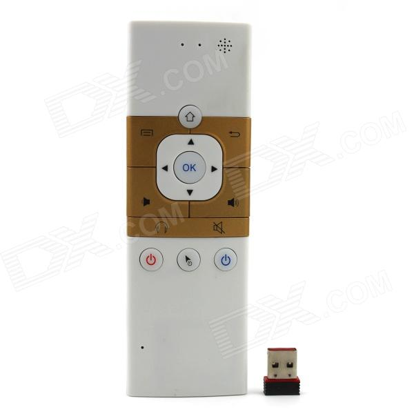 DF6 2.4GHz Wireless Air Mouse Remote Controller w/ Gyroscope, Infrared Learning Function - White