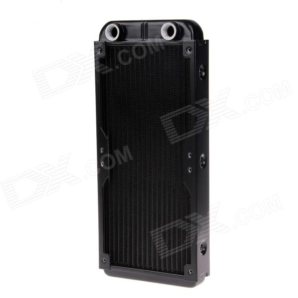 F100194 WT-010 Double 12cm 1/4G Thread Aluminum Radiator / Cooling Gear - Black