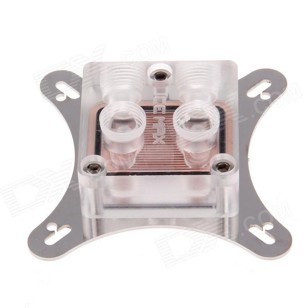 WT-022 53~62mm Graphics Card Cooling Head - Silver + Transparent + Copper small hole distance of gpu water cooling head of developing card