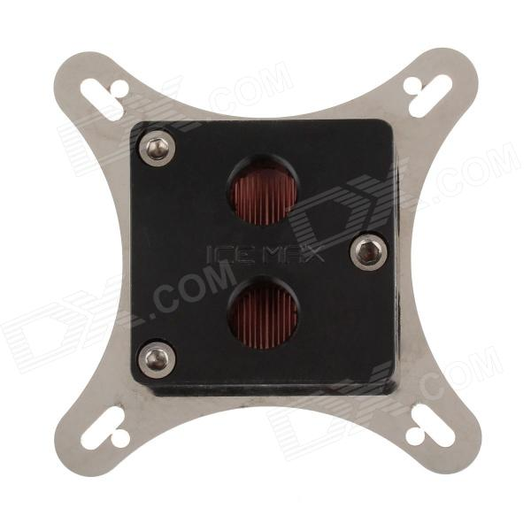 WT-023 53~62mm Graphics Card Cooling Head - Silver + Black + Copper small hole distance of gpu water cooling head of developing card