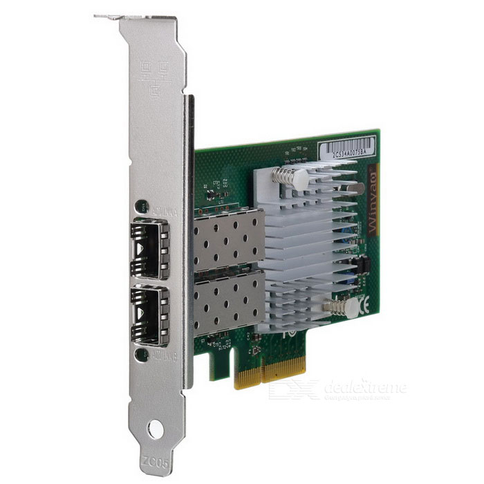 Winyao WYI350F2-SFP Dual Port SFP Gigabit Ethernet PCI Express Server Adapter Intel I350 Chipset